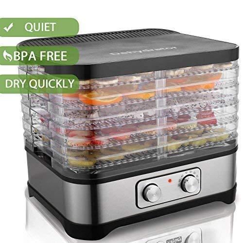 Homdox Food Dehydrator Machine, Jerky Dehydrators with Five