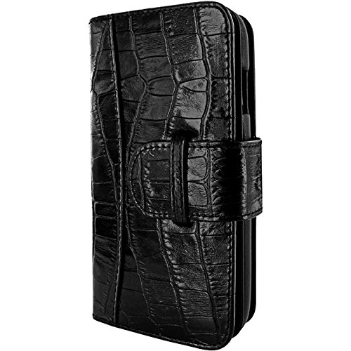 Piel Frama U717CO WalletMagnum Coque pour iPhone 6 Plus Crocodile Noir