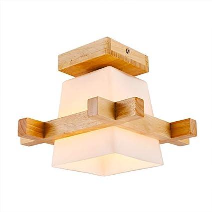 QEQ Estilo japonés Lámpara de Techo LED Moderna Luces de ...