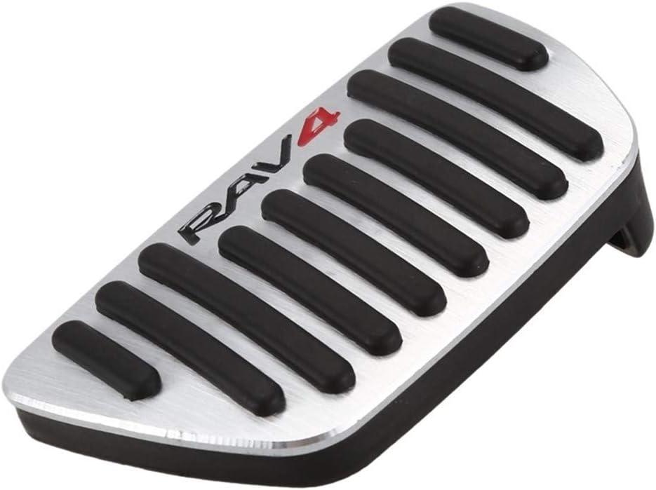 Pedal del coche For accesorios del coche RAV4 2020 2pcs del resbal/ón del pie del pedal del freno cubierta Almohadilla de repuesto piezas de autom/óviles suministros Color Name : Silver