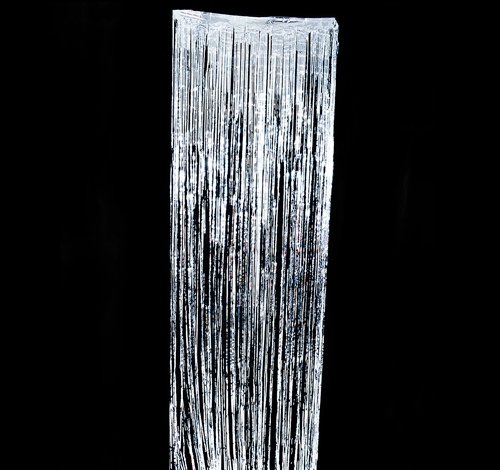 DollarItemDirect 36''X96'' Silver FOIL Fringe Curtain, Case of 24