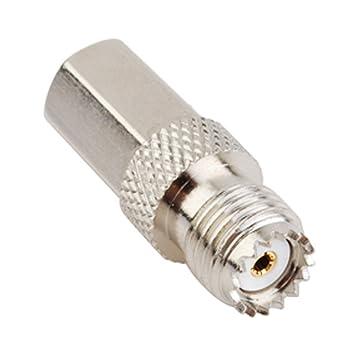 PC-Case 2pcs RF Cable eléctrico Terminal Conector Coaxial fme-miniuhf adaptador FME macho a Mini-UHF hembra recto para antena inalámbrica: Amazon.es: ...