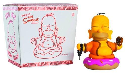 - Kidrobot The Simpsons Homer Buddha 7 inch Vinyl Figure
