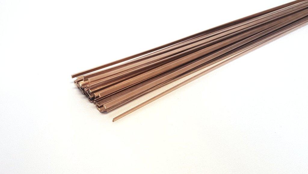 BCuP-3 Silver PhosCopper Brazing Rod - 5% Silver - Flat - 1/8'' x 0.05'' x 20'' (2 Lb/56 Sticks)