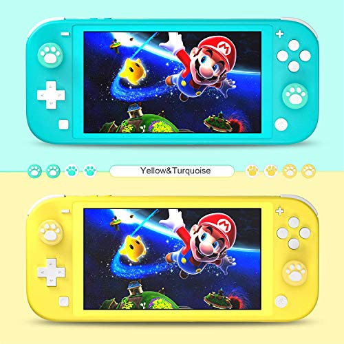 Hestia Goods Carrying Case for Nintendo Switch Lite with 2 Pack Screen Protector & 6 Pcs Thumb Grip, 20 Game Cartridges Hard Shell Travel Carrying Switch Lite Pouch Case Console & Accessories, Black