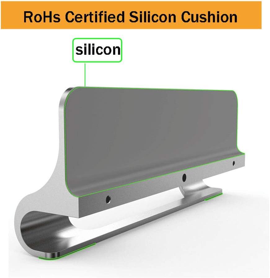 Compatible Tous iPad//MacBook//Surface//Samsung//HP//Dell//Chrome Livre Rose jusqu/à 17,3 Vertical Support Ordinateur Portable,BECROWMEU Double de Bureau Support r/églable avec Station daccueil