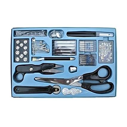 kit de costura profesional de 143 piezas - tijeras, extractor de costura, agujas para