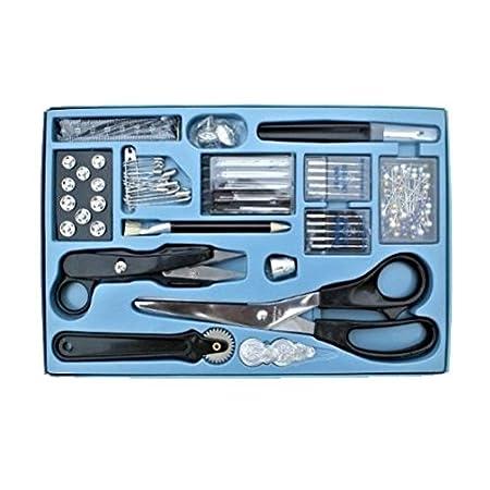 kit de costura profesional de 143 piezas - tijeras, extractor de costura, agujas para máquinas de coser, etc by DELIAWINTERFEL: Amazon.es: Bricolaje y ...