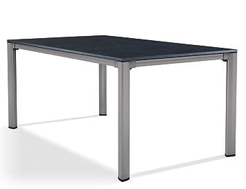 Sieger 1780 50 Exclusiv Tisch Mit Puroplan Platte 165 X 95 Cm Aluminium Gestell Graphit Tischplatte Schieferdekor Anthrazit