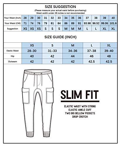 Fit Jogger Italy Casual Cotone Slim Morn Marrone Uomo Sportivi Cargo Pantaloni H1W4RBzn1