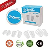 ZPER Nasal Dilator- Reusable, Helps with Snoring and Breathing for Comfortable Deep Sleep, Effective Natural Helper, Flexible Soft Silicone (4 Pairs, 2X Big, 2X Small w/Travel case)