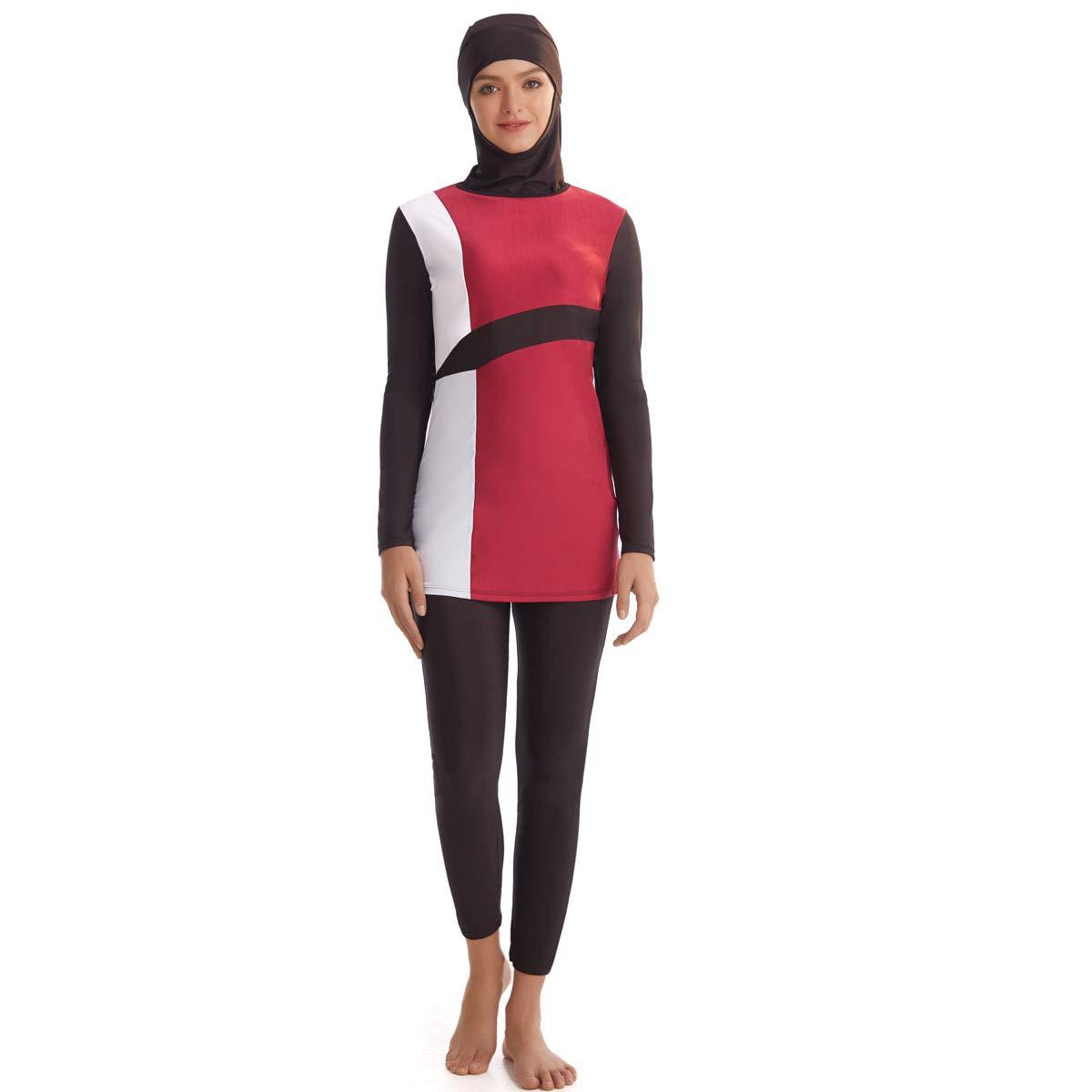 Costume da Bagno Islamico Burkini Musulmana Modesty con Hijab seafanny