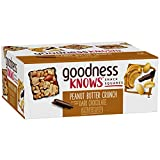 goodnessKNOWS Peanut Butter Crunch & Dark Chocolate Gluten Free Snacks Square Bars 12-Count Box For Sale