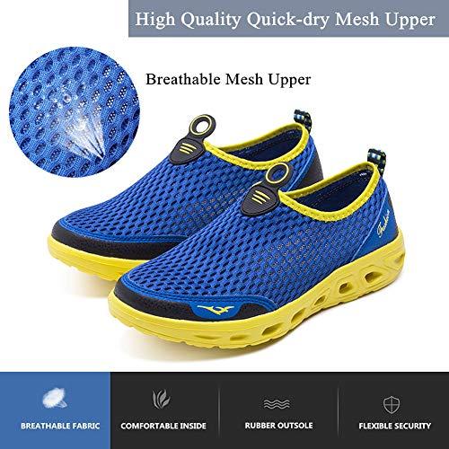 Séchage Aquatiques Chaussure Femme Chaussures Les Bleu Homme Pour Respirante Tous D'eau Et Yooeen Rapide Plage Sports Mesh De Sq8fx