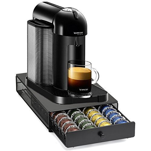 Nespresso VertuoLine Black Coffee and Espresso Maker with Bonus 40 Capsule Storage Drawer