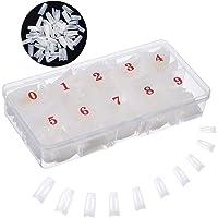 Acrylic Nail Tips Natural French Nail Tip MuYwa 500pcs Nails Half Cover False Nail Half Tips with Box for Nail Salon…