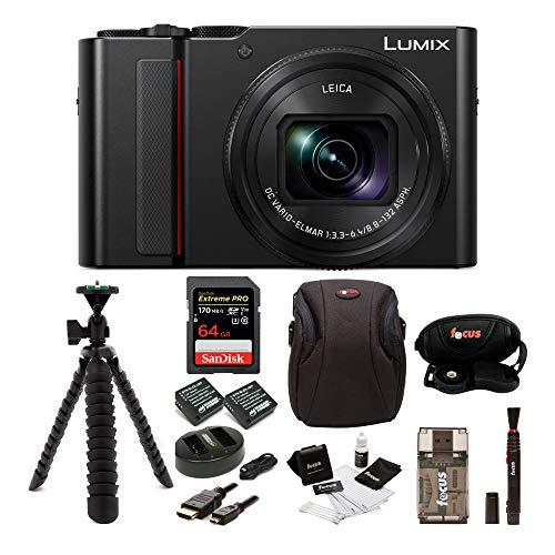 PANASONIC LUMIX ZS200 4K Camera 15X Leica DC Vario-Elmar Lens DC-ZS200K (USA Black) Premium Bundle