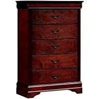 Furniture of America CM7866CH-C Louis Philippe III Cherry Chest Drawer
