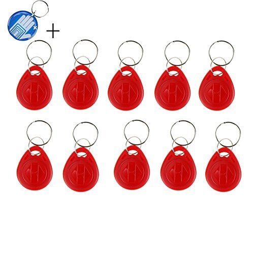 OBO HANDS 50pcs RFID Smart Card of ID Keyfobs,125 KHz Tags EM4100, Access Control Card Five Colors (Red) by OBO HANDS
