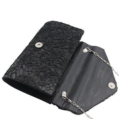 Bag Clutch Handbag Lace Envelope Floral Burgundy Black Party Womens Purse Elegant Cckuu Wedding qHpXTYx