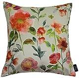 Cheap McAlister Orange Renoir Decorative Pillow Cover Case | 16X16 | Soft Velvet Watercolor Floral Rose | Vintage Shabby Chic Flower Accent Decor