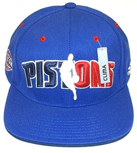NBA adidas Detroit Pistons Royal Blue Official Draft Day Flex Hat (Small/Medium)