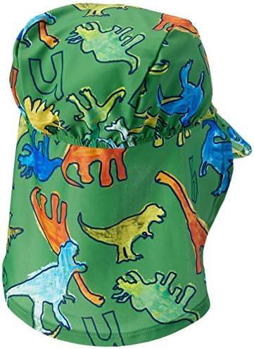 [ボーイズ・UVカット・日よけ付き] グラフィティダイナソー (恐竜) プリントスイムキャップ 02072001 キッズ