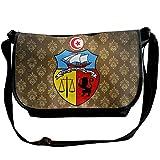 Lov6eoorheeb Unisex Coat Of Arms Of Tunisia Wide Diagonal Shoulder Bag Adjustable Shoulder Tote Bag Single Shoulder Backpack For Work,School,Daily