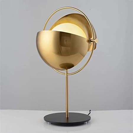 Lampada da comodino rotonda in stile nordico, lampada da