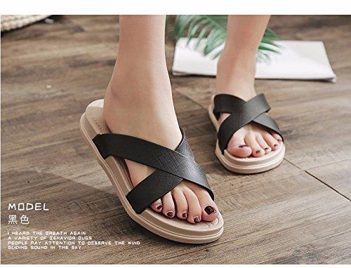 La señoras Negro estudiantes zapatillas sandalias nette moda verano sandalias unas prefieren rRO7rEqw