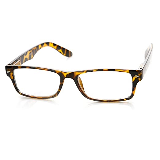 7bf0f2a36ba Image Unavailable. Image not available for. Color  Casual Fashion Horned  Rim Rectangular Frame Clear Lens Eye Glasses ...