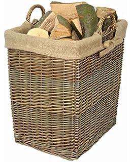 Toy Box//Wicker Bin//Gift Basket Oval Extra Large Grey Storage Log Basket W60 x D52 x H46cm