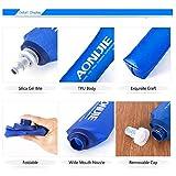 Docooler Foldable Sports BPA PVC Free Soft Running Water Kettle Soft Hiking Flask Hydration Bottle(2PCS,250ML)