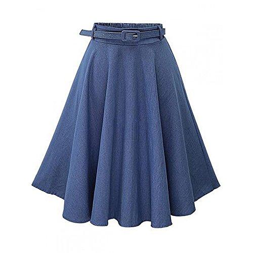 Just A Girl Denim Skirt - 5
