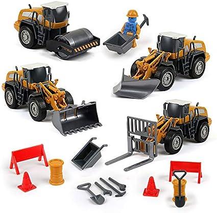 BeebeeRun Coche Juguete,Vehículos Construcción,Coches Camiones Juguetes 3 Años Niño+