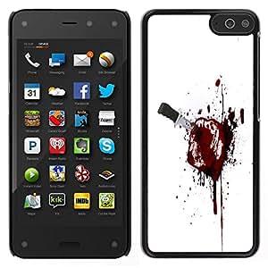 Caucho caso de Shell duro de la cubierta de accesorios de protección BY RAYDREAMMM - Amazon Fire Phone - Bloody Brindis