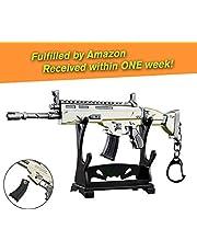 """Charminer Arma Scar Guns Pistola 3D Modelo Llavero de Metal, Tamaño 6.8""""/ 17cm, Regalo Accesorios Cosas Objetos para Niños Hombre Juego Fans"""