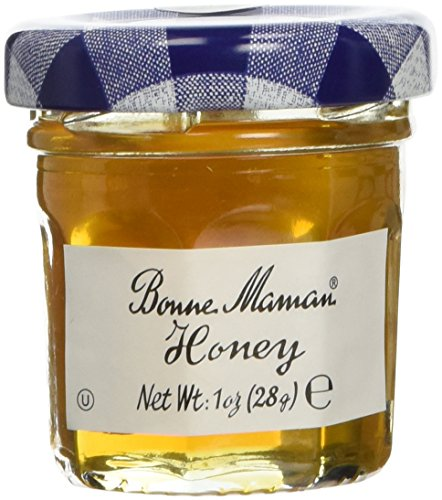 Bonne Maman Honey Mini Jars - 1 case, 60 jars, 1 oz each Kosher