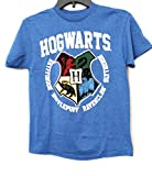Boys Hogwarts Crest Harry Potter Graphic Short Sleeve T-Shirt (10-12), Royal Blue