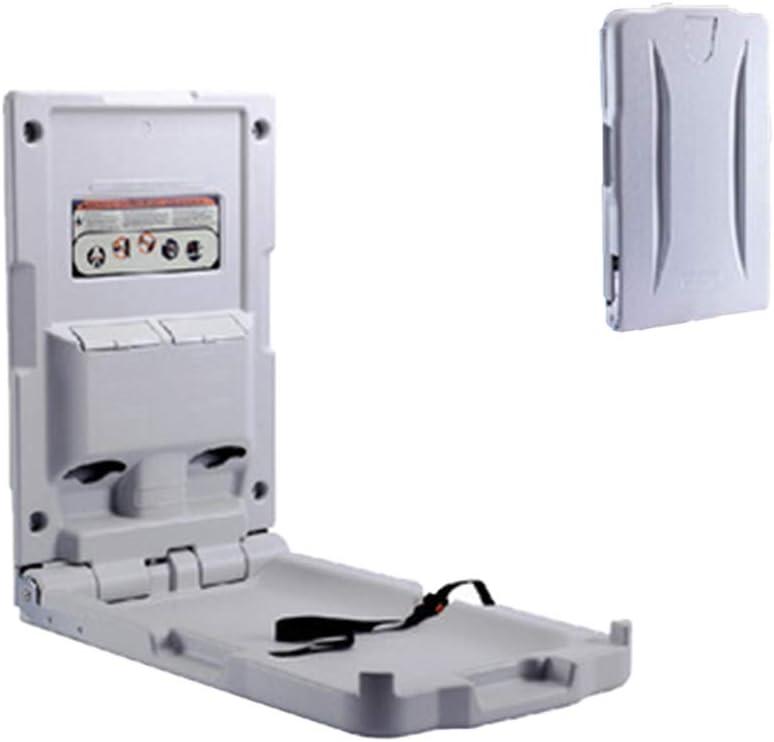 Cambiador de bebé con la señal de la puerta cambiante del bebé gratis Comercial Montado en la pared plegable hacia abajo horizontal Construido en dispensador de línea - Cinturón de seguridad