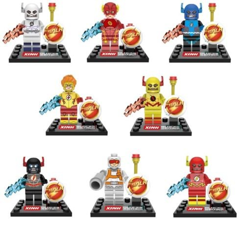 TONGROU 8pcs-Marvel-Ultron-Flash-Ray-Minifigures-Building-Blocks-kids-toys