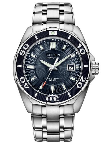 - Citizen Men's BL1258-53L The Signature Collection Blue Dial Stainless Steel Watch