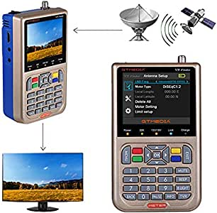 GT MEDIA V8 Satellite Finder Meter TV DVB-S/S2/S2X Signal Receiver H.265 Hardware Sat Detector, HD 1080P Free to Air FTA 3.5