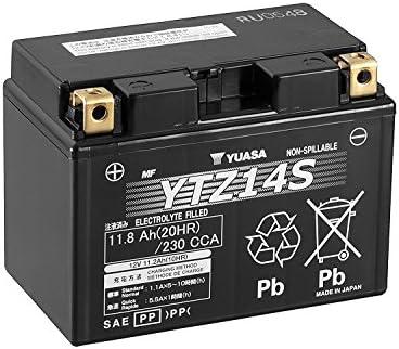 Batería para moto YUASA YTZ14S, gel de alto rendimiento (12 V, 12 ...