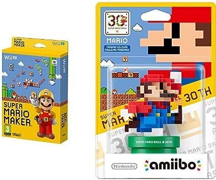 Mario Maker + Artbook + Amiibo Mario Colores Modernos: Amazon.es: Videojuegos