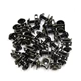 uxcell 24 Pcs M6 Motorcycle Sportbike Fairing Bolts Kit Fastener Clips Screws Black