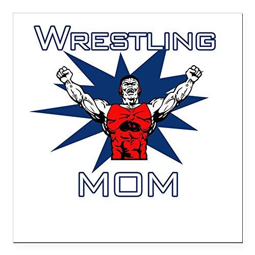 CafePress - Wrestling Mom Square Car Magnet - Square Car Magnet, Magnetic Bumper - Olympic Pin Wrestling
