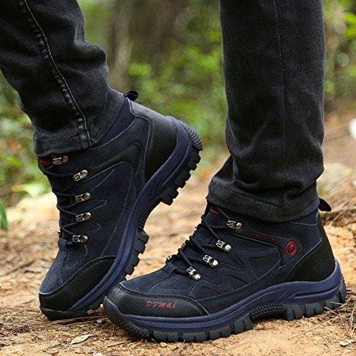 d'alpinisme High et Trekking Bleu imperméables Gomnear Top Antickid d'hiver pour extérieures Hommes Randonnée Bottes Chaussures de qR1cU8C