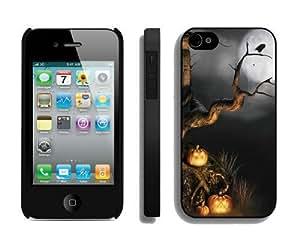 2014 New Style Halloween scene Black iPhone 4 4S Case 1