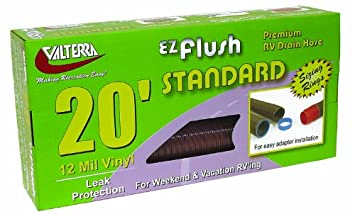 Boxed Valterra Bronze 10 Foot D04-0015 EZ Flush Standard Drain Hose-10
